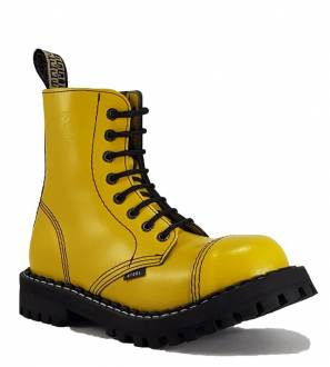 Steel Boots 8 Eyelets Yellow
