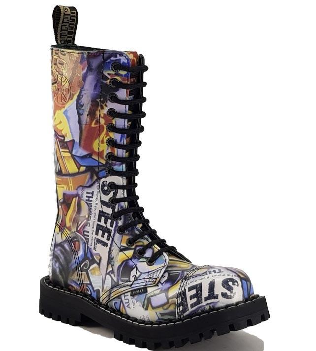 Steel Boots 15 Eyelets Graffiti | STEEL