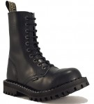 Steel Boots 10 Eyelets Black