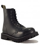 Steel Boots 8 Eyelets Black