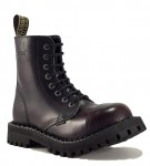 Steel Boots 8 Eyelets Burgundy Rub Off