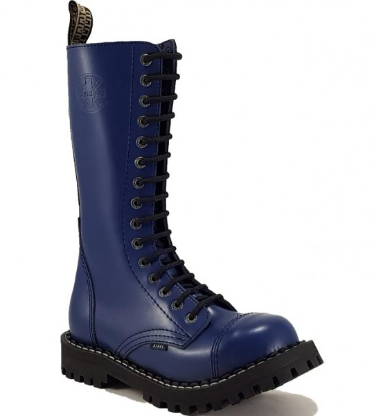 Steel Boots 15 Eyelets Blue