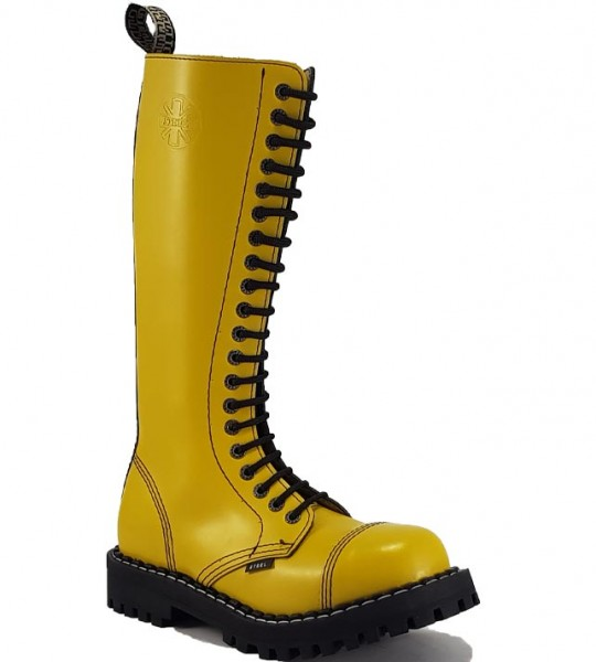 Steel Boots 20 Eyelets Yellow