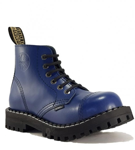 Steel Boots 6 Eyelets Blue