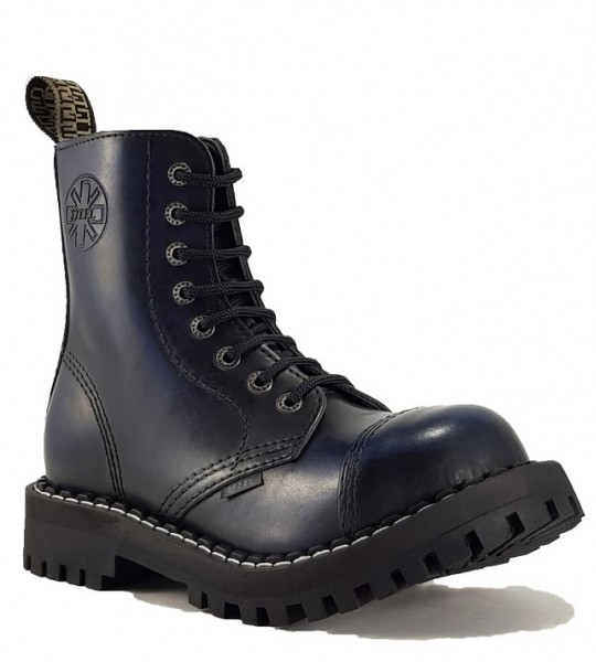 Steel Boots 8 Eyelets Blue Rub Off
