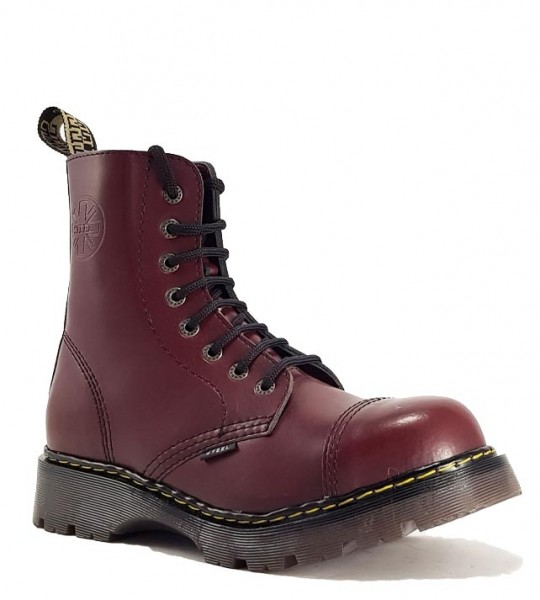 Steel Boots 8 Eyelets Burgundy Air