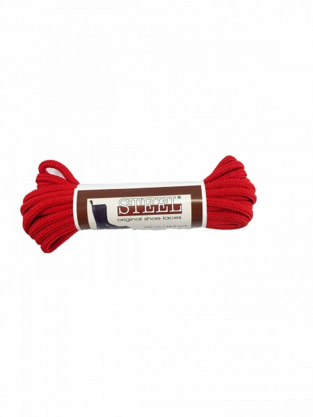 Boot Laces Steel Red 240 cm - For 15 Eyelets Boots