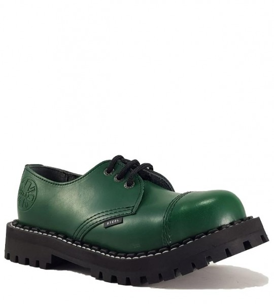 Steel Shoes 3 Eyelets Green