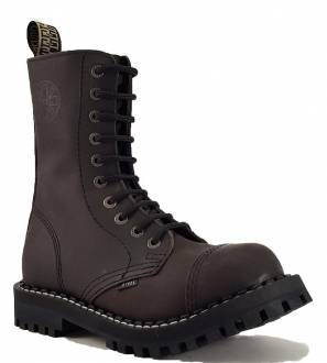 Steel Boots 10 Eyelets Brown