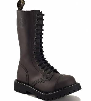 Steel Boots 15 Eyelets Brown