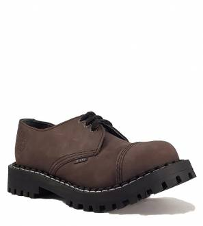 Steel Shoes 3 Eyelets Brown