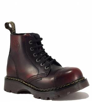Steel Boots 6 Eyelets Burgundy Air