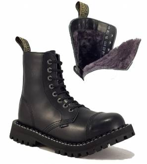 Steel Boots 8 Eyelets Black Warm