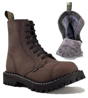 Steel Boots 8 Eyelets Brown Warm
